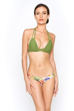 Montceswim - Olive Braided T Top