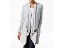 G.H. Bass & Co.  - Draped Open-Front Cardigan