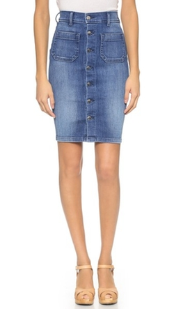 Seafarer - Sandy High Waisted Tube Skirt