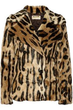 Michael Michael Kors  - Leopard-Print Faux Fur Coat