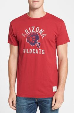 Retro Brand  - Arizona Wildcats Football Slim Fit Graphic T-shirt