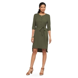 Target - Belted Crepe Shirt Dress