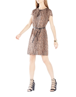 BCBGMAXAZRIA - Annalie Cheetah Print Dress