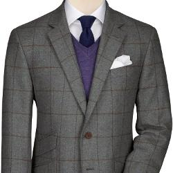 Charles Tyrwhitt - Check Scottish Tweed Classic Fit Jacket