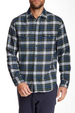Relwen  - Classic Fit Plaid Double Flannel Shirt