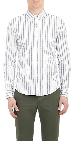 Band Of Outsiders - Stripe Oxford-Cloth Shirt