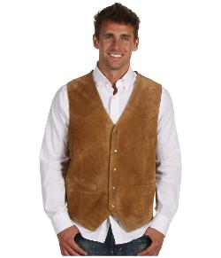 Roper  - Suede Vest with Front Yokes