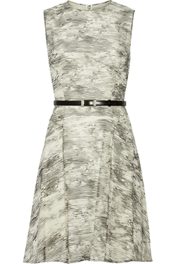 Jason Wu  - Belted Printed Silk-chiffon Dress