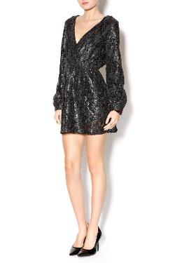 Honey Punch - Matte Black Sequin Dress