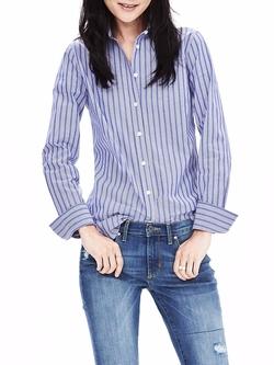 Banana-Republic - Riley-Fit Blue Stripe Shirt