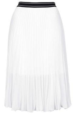 Topshop - Petite Sports Pleat Midi Skirt
