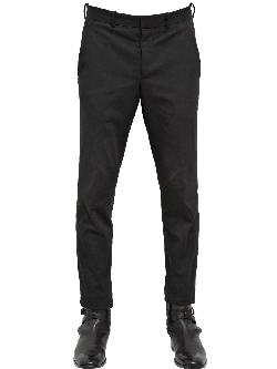 ALEXANDER MCQUEEN - 17CM STRETCH COTTON GABARDINE TROUSERS