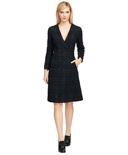 Brooks Brothers - Wool Plaid Double-Breasted Dress