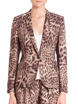 The Kooples  - Crepe Leopard Print Jacket