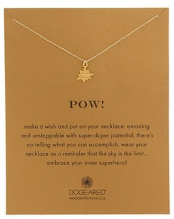 Dogeared - Pow! 14K Pendant Necklace