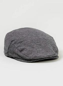 Topman - Grey And Black Flat Cap