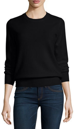 Neiman Marcus - Long-Sleeve Crewneck Cashmere Sweater