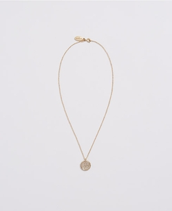 Ann Taylor - Pave Disc Pendant Necklace
