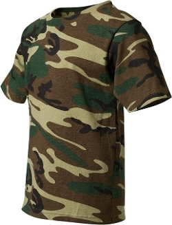 Code V - Youth Camouflage Cotton T-Shirt