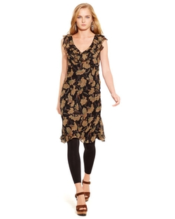 Ralph Lauren - Silk Floral Ruffled Dress