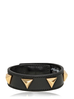 Saint Laurent - Triangle Studs Leather Cuff Bracelet