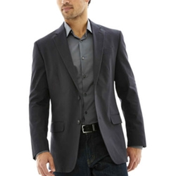 Jf J. Ferrar - Slim-Fit Cotton Sport Coat Blazer