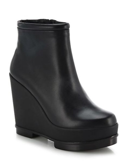 Robert Clergerie  - Sarla Leather Wedge Booties