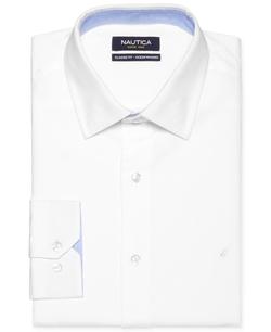 Nautica - White Solid Dress Shirt