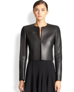 Akris - Architecture Collection Hasso Leather Jacket
