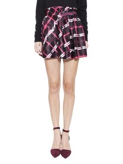 Kenzo  - Neon Plaid Skirt