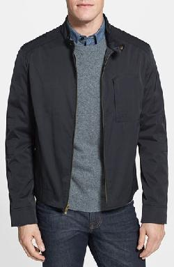 Cole Haan  - Water Resistant Coated Moto Jacket