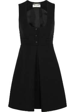 Saint Laurent - Wool-crepe mini dress