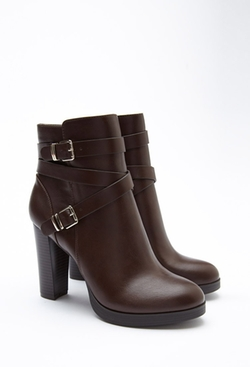 Forever 21 - Buckled Faux Leather Booties