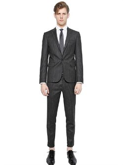 Dsquared2 - Tokyo Striped Wool and Cashmere Suit