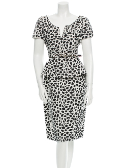 Oscar De La Renta - Peplum Silk Dress