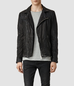 US All Saints - Kushiro Leather Biker Jacket