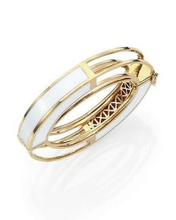Eddie Borgo  - Enamel Circle Frame Bangle Bracelet