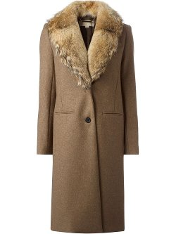 Michael Kors - Detachable Faux-Fur Collar Coat