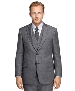 Brooks Brothers - Madison Fit Sharkskin Deco Three-Piece 1818 Suit