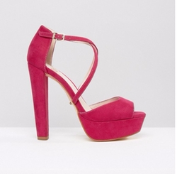 Faith Daniella  - Cross Strap Platform Heeled Sandals