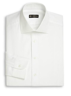 Corneliani  - Cotton & Linen Dress Shirt