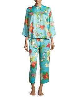 Natori - Peranakan Floral-Print Satin Pajama Set