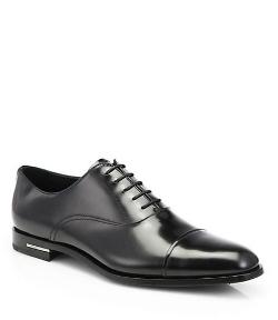 Prada  - Spazzolato Captoe Oxford Shoes