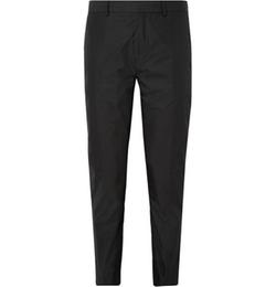 Acne Studios   - Aaron Slim-Fit Cotton-Blend Poplin Suit Trousers