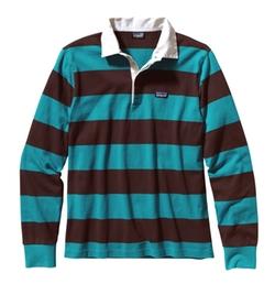Patagonia  - Tobago Blue Sender Rugby Shirt