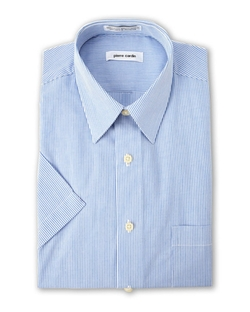 Pierre Cardin  - Pinstripe Short Sleeve Dress Shirt