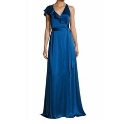 Diane von Furstenberg - Sleeveless Ruffled Wrap Gown