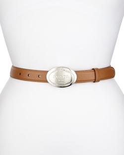 Prada - Thin Saffiano Logo Belt
