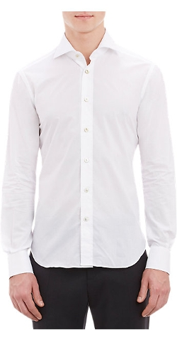 Kiton - Solid Fitted Shirt