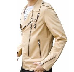Goocyber  - Stylish Zipper Closure Moto Jacket
